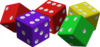 Colorful Dice Clip Art