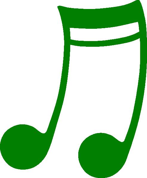 green music note clip art at clker com vector clip art online rh clker com Single Music Notes Music Note Clip Art