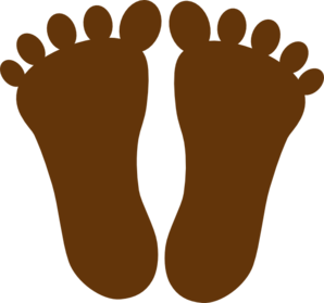 Dark Brown Footprints Clip Art