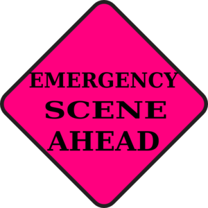 Emergency Scene Ahead Clip Art