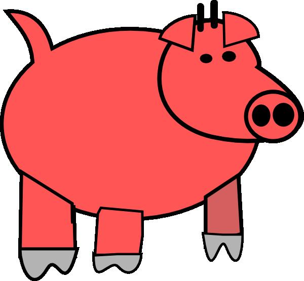Cartoon Pig 1 Clip Art at Clker.com - vector clip art ...