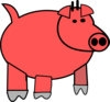 Cartoon Pig 1 Clip Art