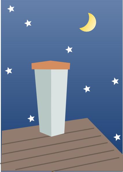 Night Chimney Clip Art at Clker.com - vector clip art online, royalty ...