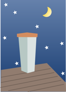 Night Chimney Clip Art