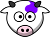 Clip Art Purple Cow