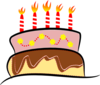 Birthday Cake With Candles Clip Art