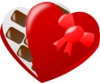 Heart Shaped Box Of Chocolates  Clip Art