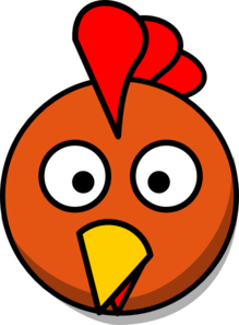 Chicken Head  Clip Art