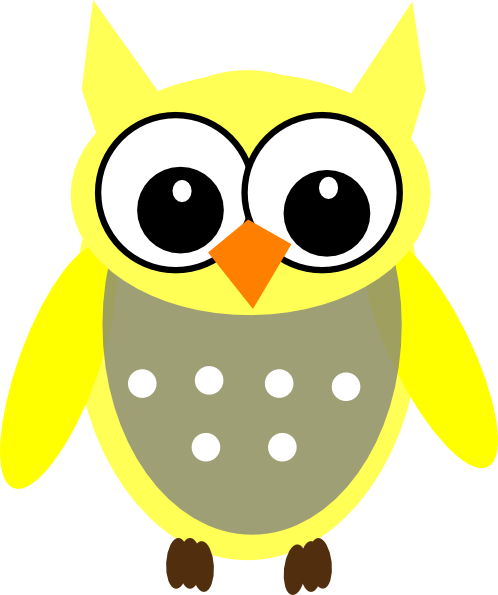 Yellow Gray Owl Clip Art At Clker Com Vector Clip Art