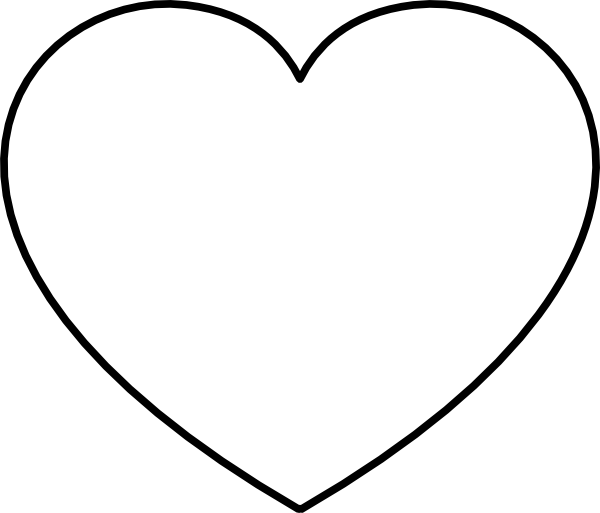 picture regarding Heart Outline Printable known as Heavy Center Lower Out Template