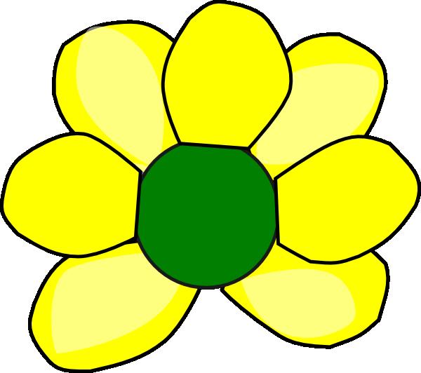 Black Flower 3 Clip Art At Clker Com: Yellow Flower 3 Clip Art At Clker.com