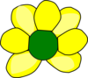 Yellow Flower 3 Clip Art