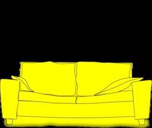 Yellow Couch Clip Art At Clker Com Vector Clip Art