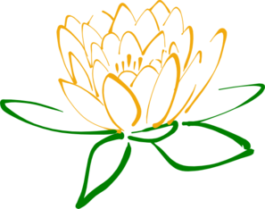 Green Orange Lotus Clip Art