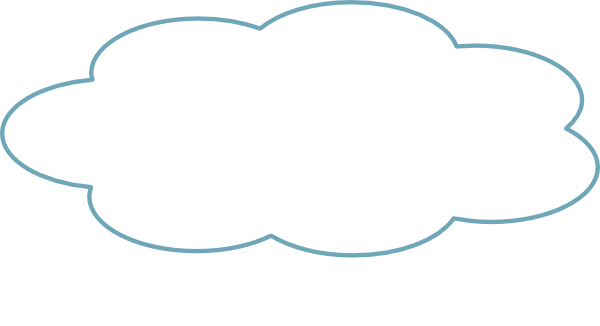 Thought Cloud Blue Th Clip Art at Clker.com - vector clip ...