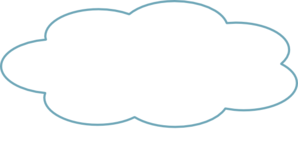 Thought Cloud Blue Th Clip Art
