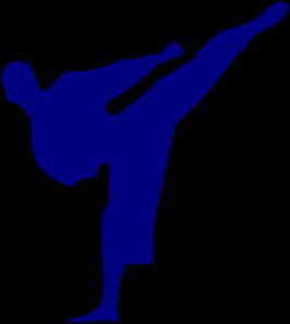 silueta karateca clip art at clker com vector clip art online