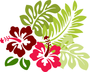Hibiscus Group Clip Art