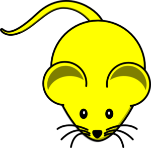 Yellow Mouse Graphic Clip Art