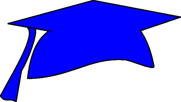 Blue Graduation Cap Clip Art at Clker.com - vector clip art online ...