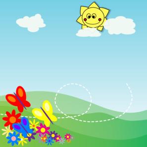 butterflies flower garden 1 clip art at clker com vector clip art online royalty free public domain clker