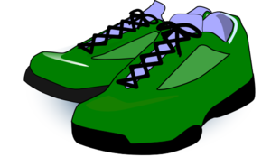 Forest Green Tennis Shoes Clip Art