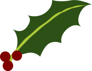 Holly Leaf 3 Berries Clip Art