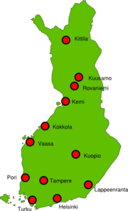 Finland Map Outline Clip Art