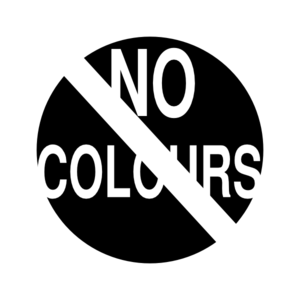 No Colours White Clip Art