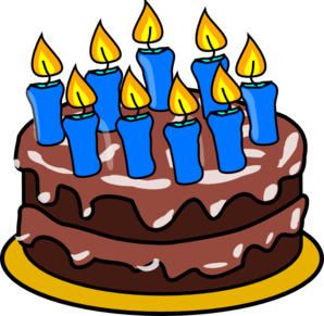 Clip Art Of Birthday Cake With Candles : 9 Candle Cake Clip Art at Clker.com - vector clip art ...