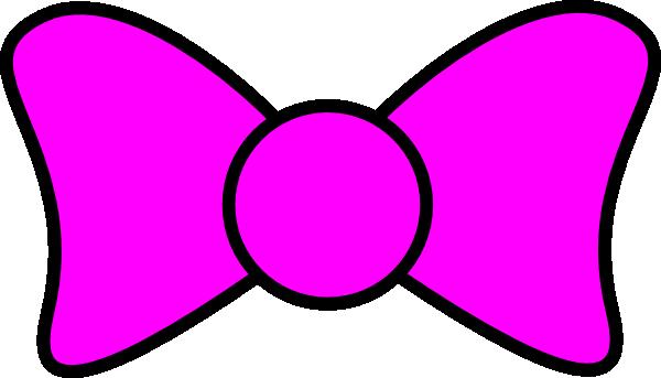 Bow Outline Pink Clip Art At Clker Com Vector Clip Art