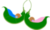 Two Peas In A Pod Sleeping 2 Clip Art