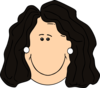Dark Hair Lady With Earrings Clip Art