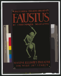 W.p.a. Federal Theatre Presents  Faustus  By Christopher Marlowe Clip Art