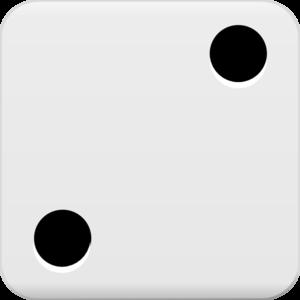 2 blank dice clip art