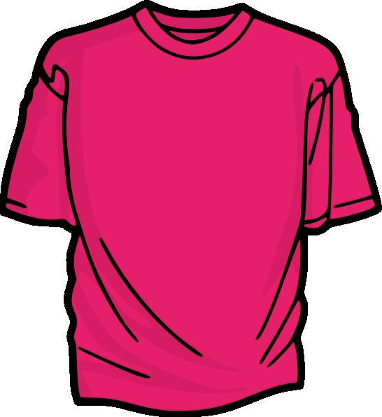 Pink t shirt clip art at vector clip art for Pink t shirt template