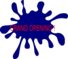 Splash Grand Opening  Clip Art