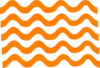 Orange Wave Lines Clip Art