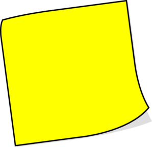 Yellow Sticky Note Clip Art