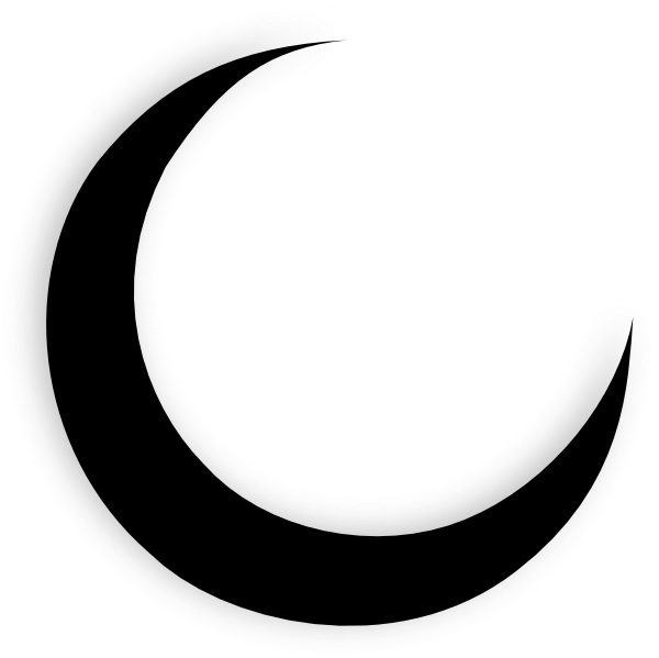 crescent moon black clip art at clker com vector clip art online rh clker com moon vector icon moon vector free downloads