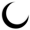 Crescent Moon Black Clip Art