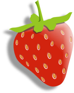 Strawberry (with Alpha Shadow) Clip Art