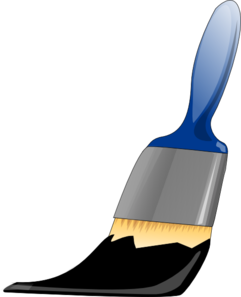 Paintbrush Black Clip Art