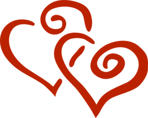 2 Hearts No Stroke Clip Art