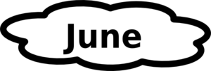June Calendar Sign Clip Art