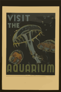 Visit The Aquarium Clip Art