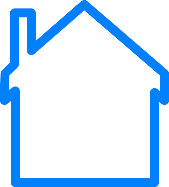 Line Art House Png : Blue house clip art at clker vector online