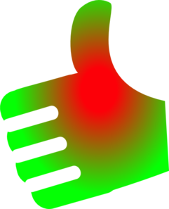 Thumb Up Red-green No Background Clip Art