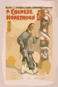 Messrs. S.s. Shubert & Nixon & Zimmerman S Production Of A Chinese Honeymoon By George Dance & Howard Talbot. 2 Clip Art