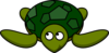 Turtle Looking Left-up Clip Art